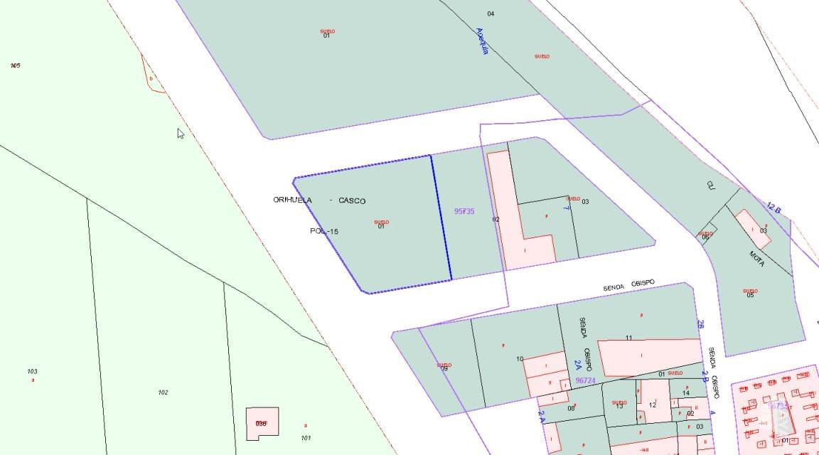 For sale of land in Orihuela