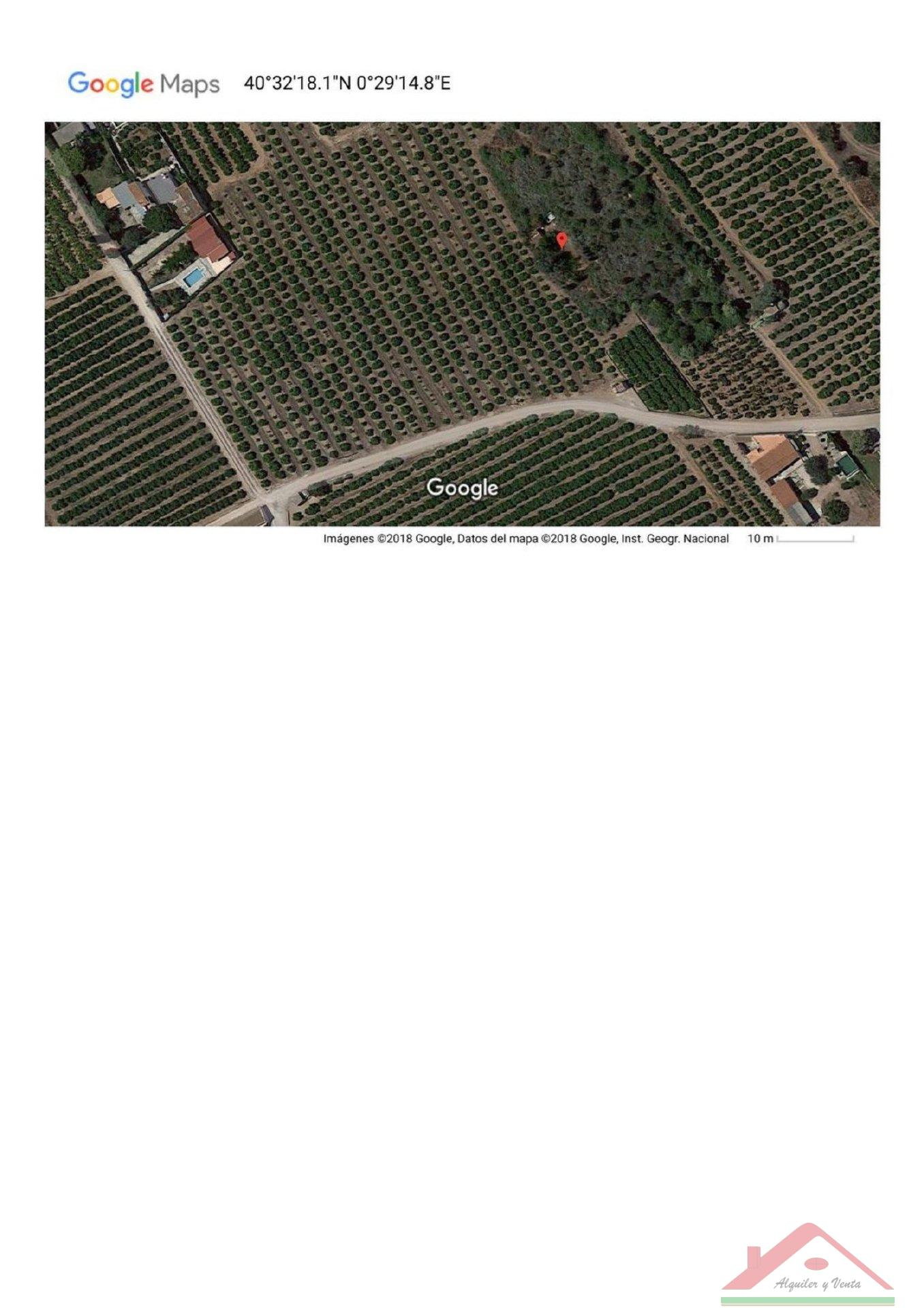 For sale of land in Alcanar
