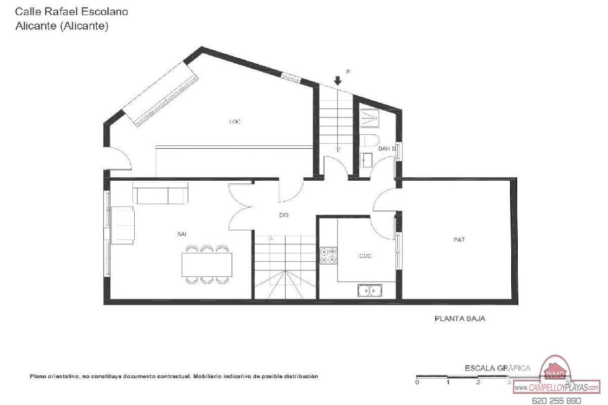 For sale of apartment in Alicante