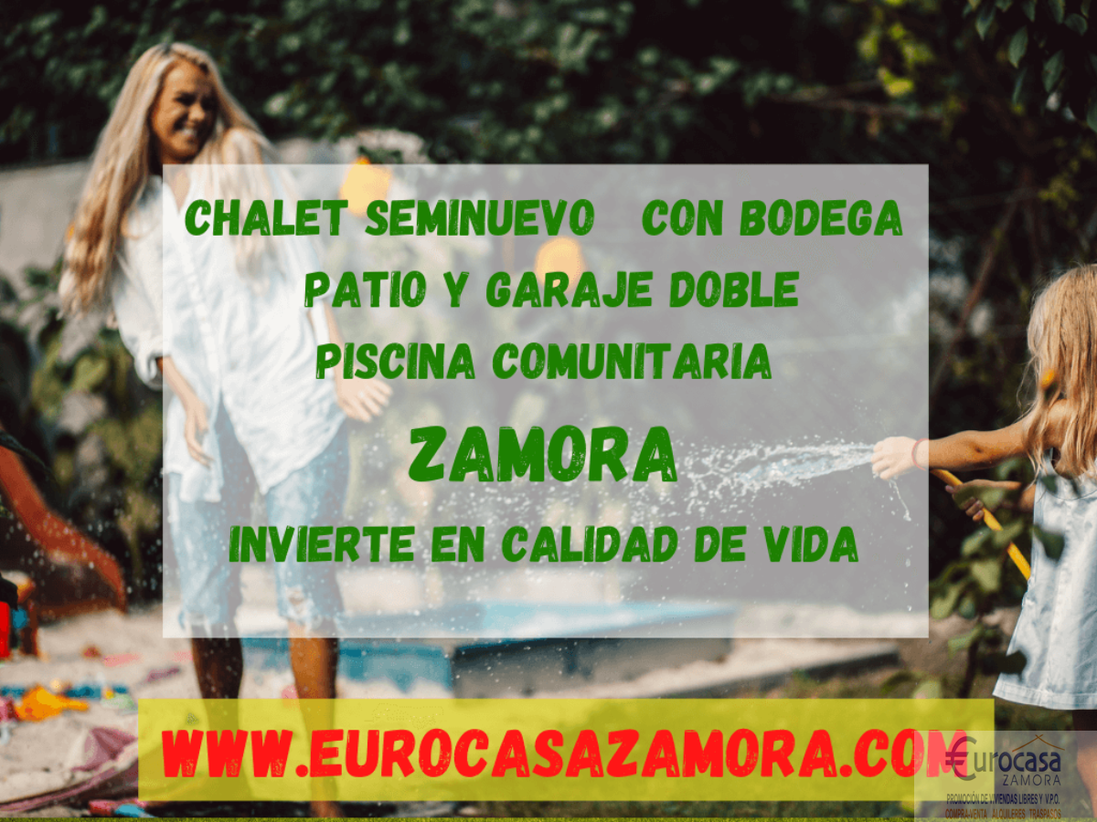 Venta de chalet en Zamora