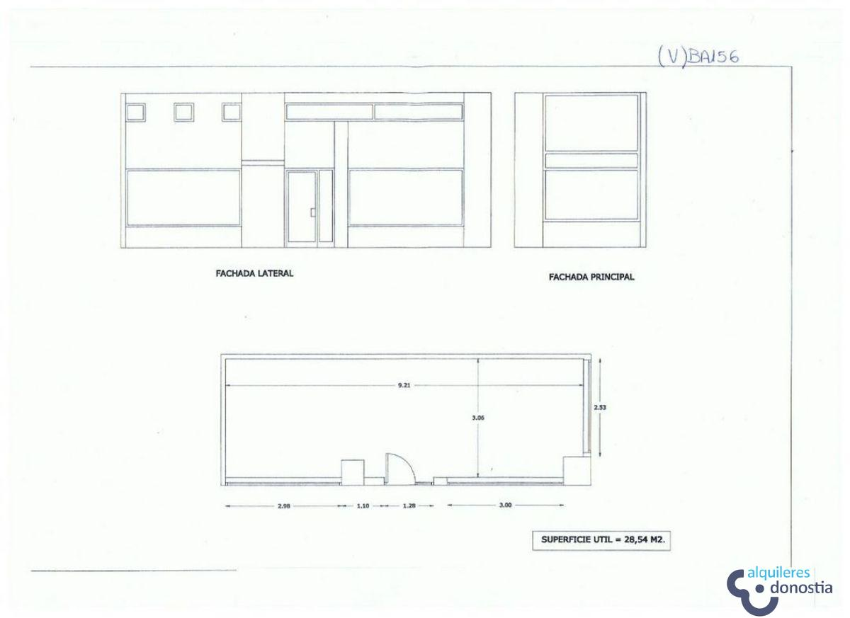 For rent of commercial in Donostia-San Sebastián