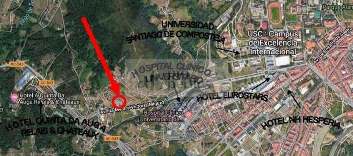 Venta de terreno en Santiago de Compostela