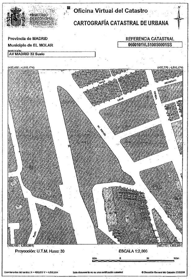 For sale of land in El Molar