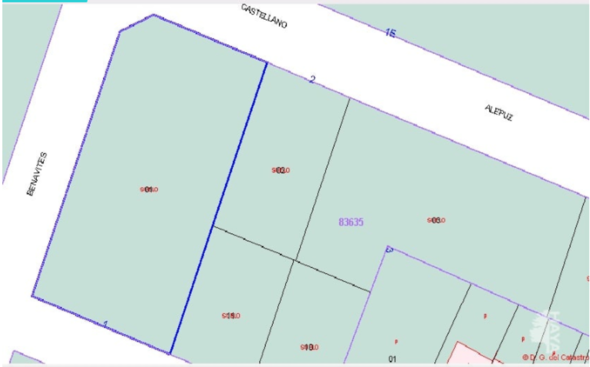 For sale of land in Canet d En Berenguer
