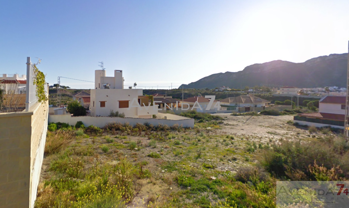 For sale of land in Águilas