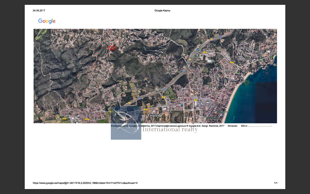 For sale of land in Platja d´Aro