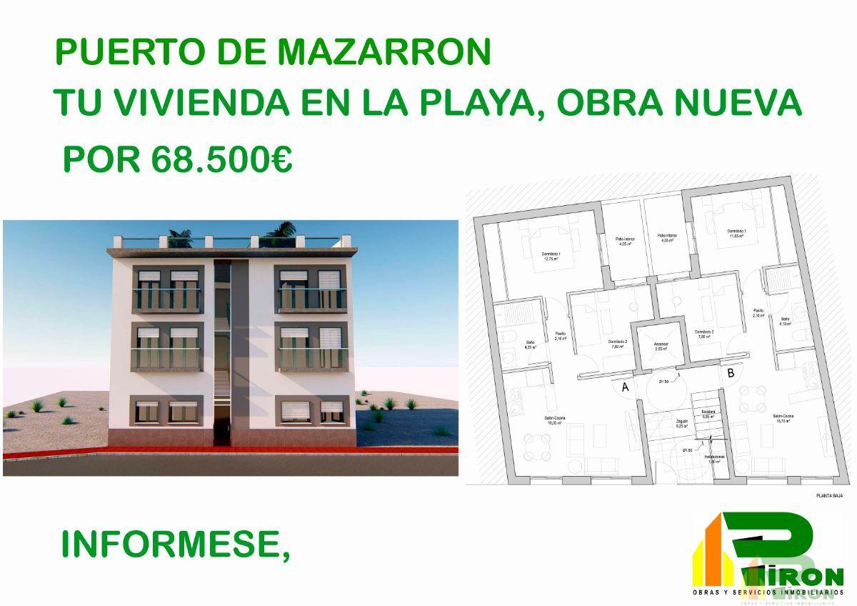 Venta de obra nueva en Puerto de Mazarrón