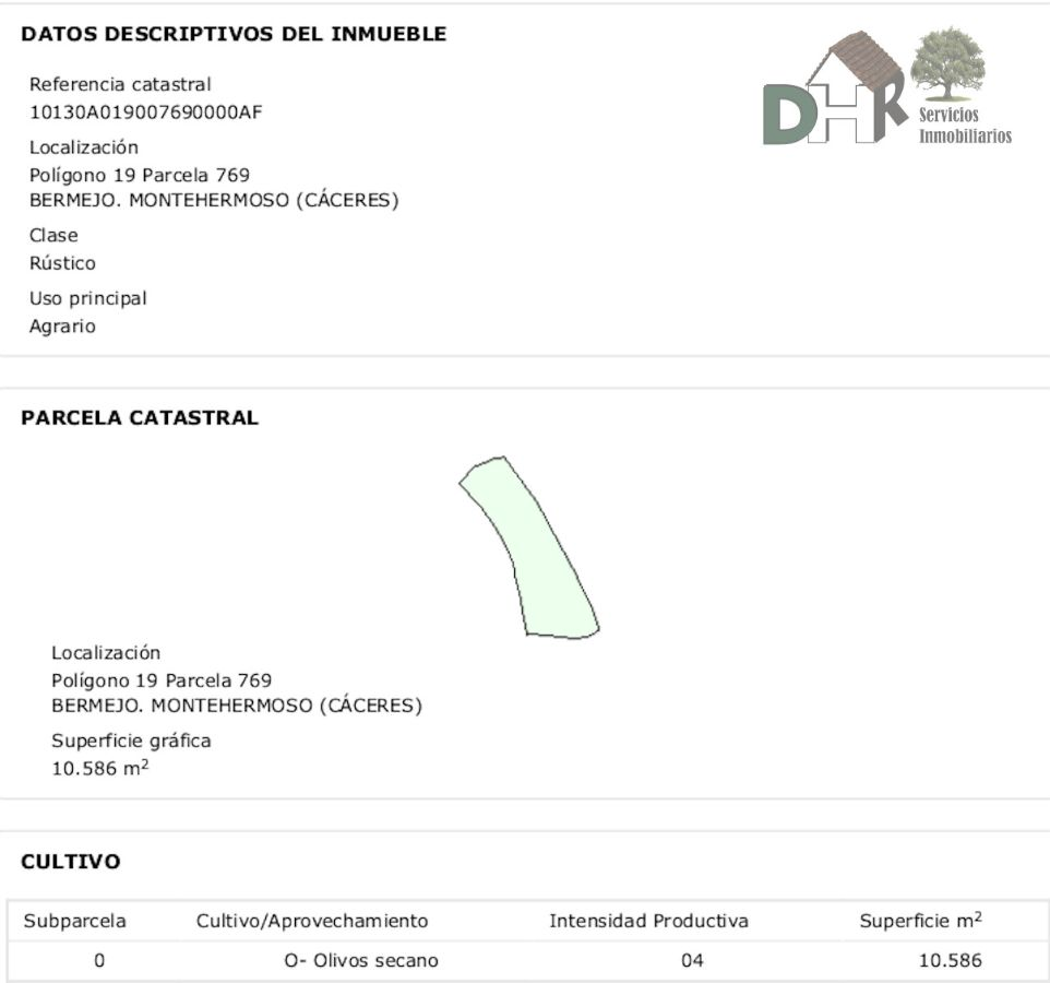 For sale of rural property in Montehermoso