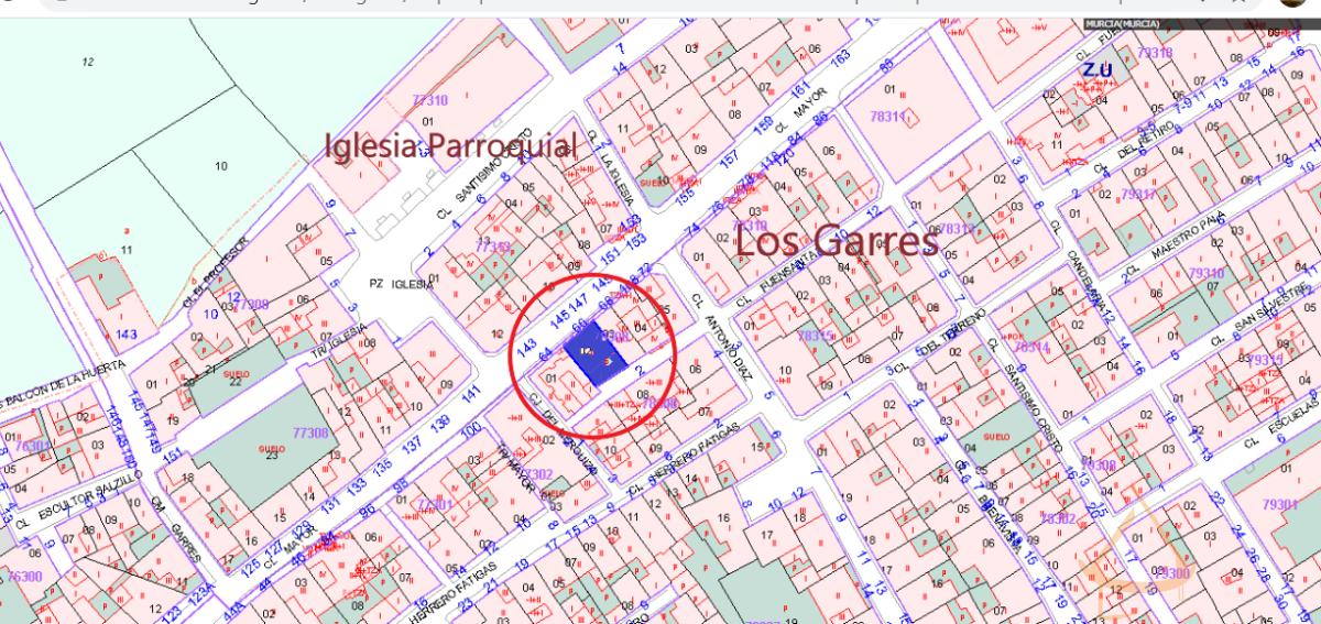 For sale of land in Los Garres